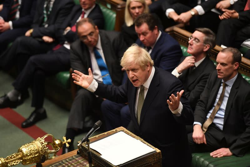 Debate on the Queen's Speech in the House of Commons Chamber, in London