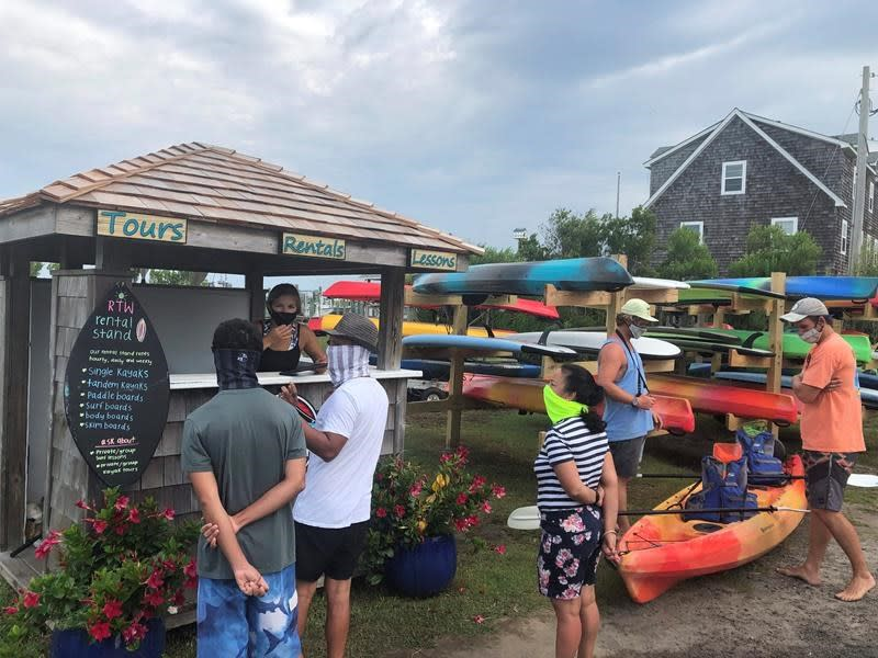 Outer Banks island ravaged by storms and virus restrictions