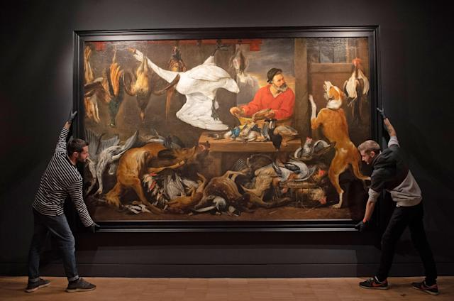 The Fowl Market is part of Fast & Fast: The Art of Food in Europe, 1500-1800 at the Fitzwilliam Museum in Cambridge (Picture: Joe Giddens/PA Wire)