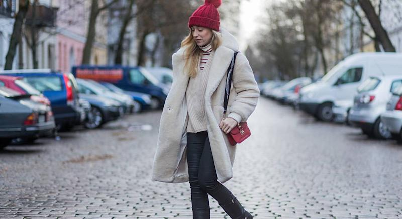 This cashmere pom-pom hat from M&S is about to become your winter essential. (Getty Images)