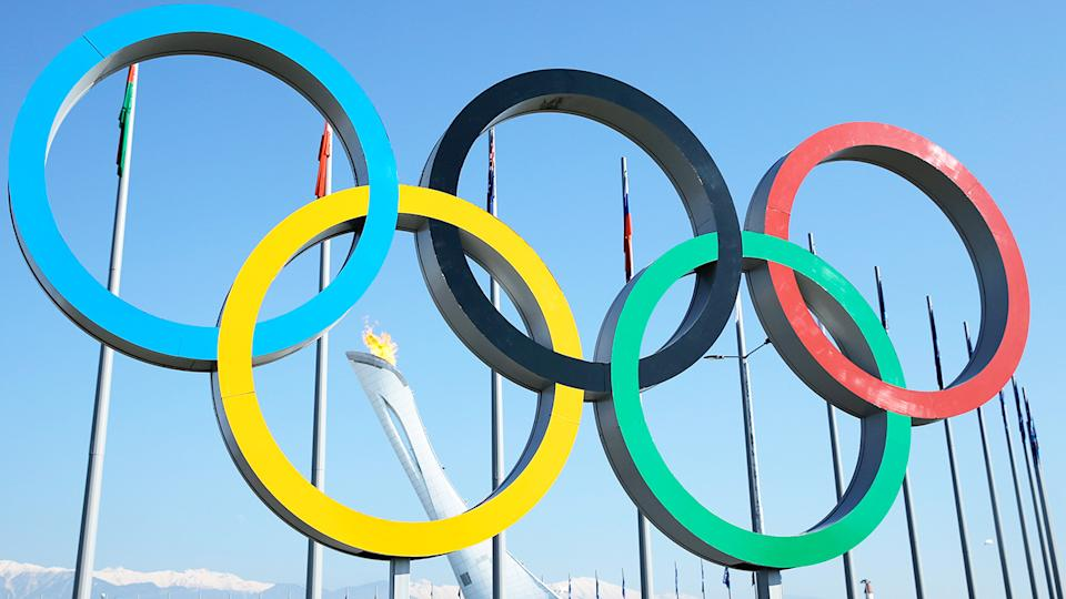 The Olympic Rings, pictured here at the 2014 Winter Games.