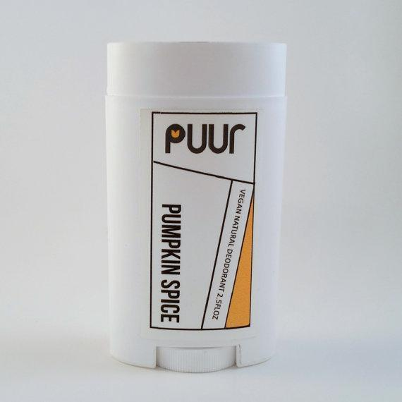 For underarms that smell like freshly baked pumpkin pie try this vegan deodorant stick.