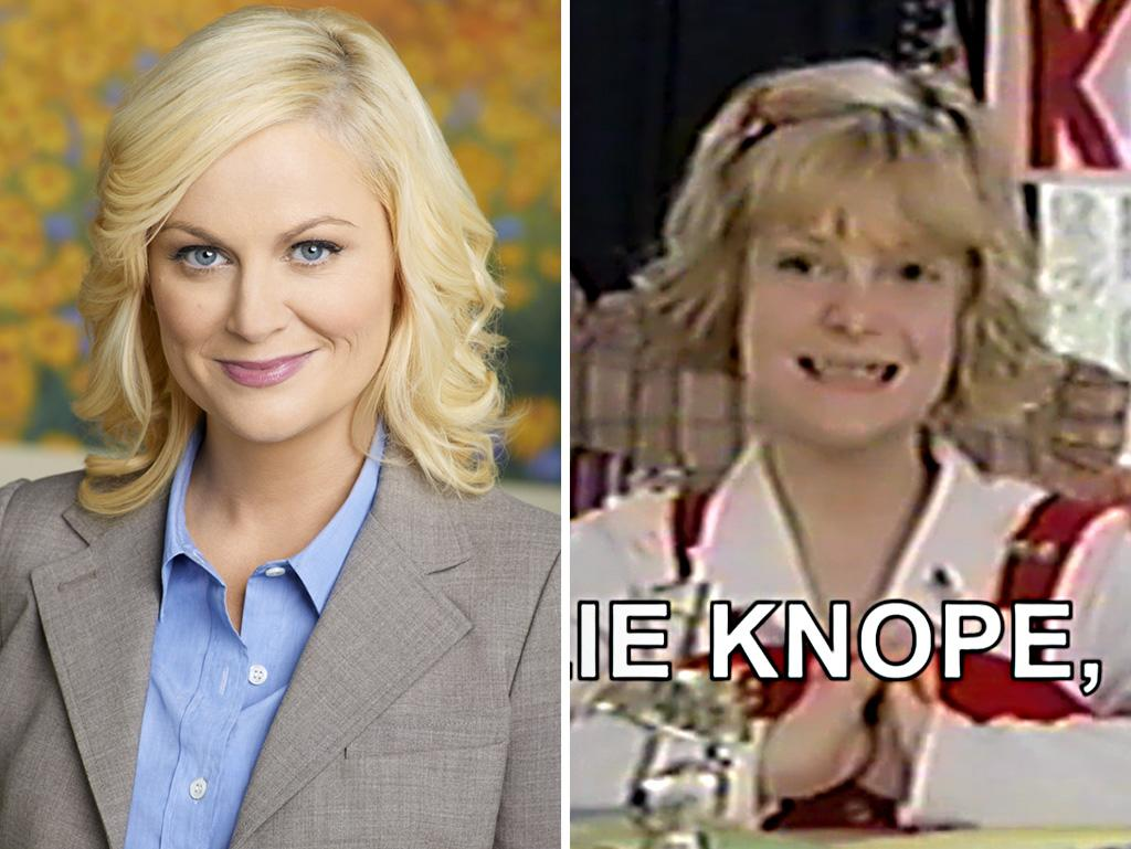 That wide grin? Those hopeful eyes? Those clasped hands? The likeness might not be the greatest, but Audrey P. Scott hit it out of the ballpark in mimicking Amy Poehler's Leslie Knope mannerisms.