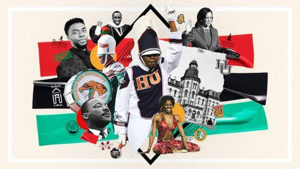 PHOTO: HBCUs continue to be an integral part of Black history with notable alumni such as Dr. Martin Luther King Jr., Oprah Winfrey, Vice President Kamala Harris and more. (GMA Photo Illustration, Getty Images,Universal History Archive, Alexander Tamargo, David J Becker, Don Juan Moore, Alex Wong, Allison Shelley/Stringer, Kevin Mazur, Stephen F Somerstein)