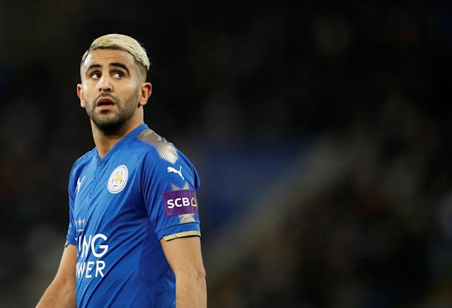 Soccer Football - FA Cup Fifth Round - Leicester City vs Sheffield United - King Power Stadium, Leicester, Britain - February 16, 2018 Leicester City's Riyad Mahrez during the match Action Images via Reuters/Carl Recine