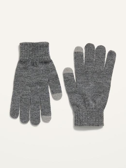 Cozy Sweater-Knit Text-Friendly Gloves