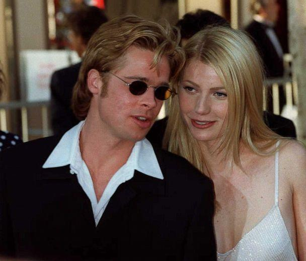 PHOTO: Actor Brad Pitt, nominee for best supporting actor for his role as ' Jeffrey Goines' in '12 Monkeys' and his companion Gwyneph Paltrow arrive at the Dorothy Chandler Pavillion in Los Angeles, March 25, 1996, for the 68th annual Academy awards. (AFP via Getty Images, FILE)