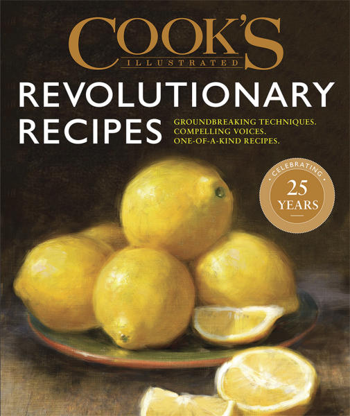 "This image provided by America's Test Kitchen in May 2019 shows the cover for the cookbook ""Revolutionary Recipes."" It includes a recipe for Garlic Shrimp Pasta. (America's Test Kitchen via AP)"