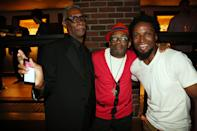 """NEW YORK, NY - JUNE 23: (L-R) Thomas Jefferson Byrd, Spike Lee, and Elvis Nolasco attend """"Da Sweet Blood Of Jesus"""" cast and crew special screening after party at Hudson Hotel on June 23, 2014 in New York City. (Photo by Johnny Nunez/WireImage)"""