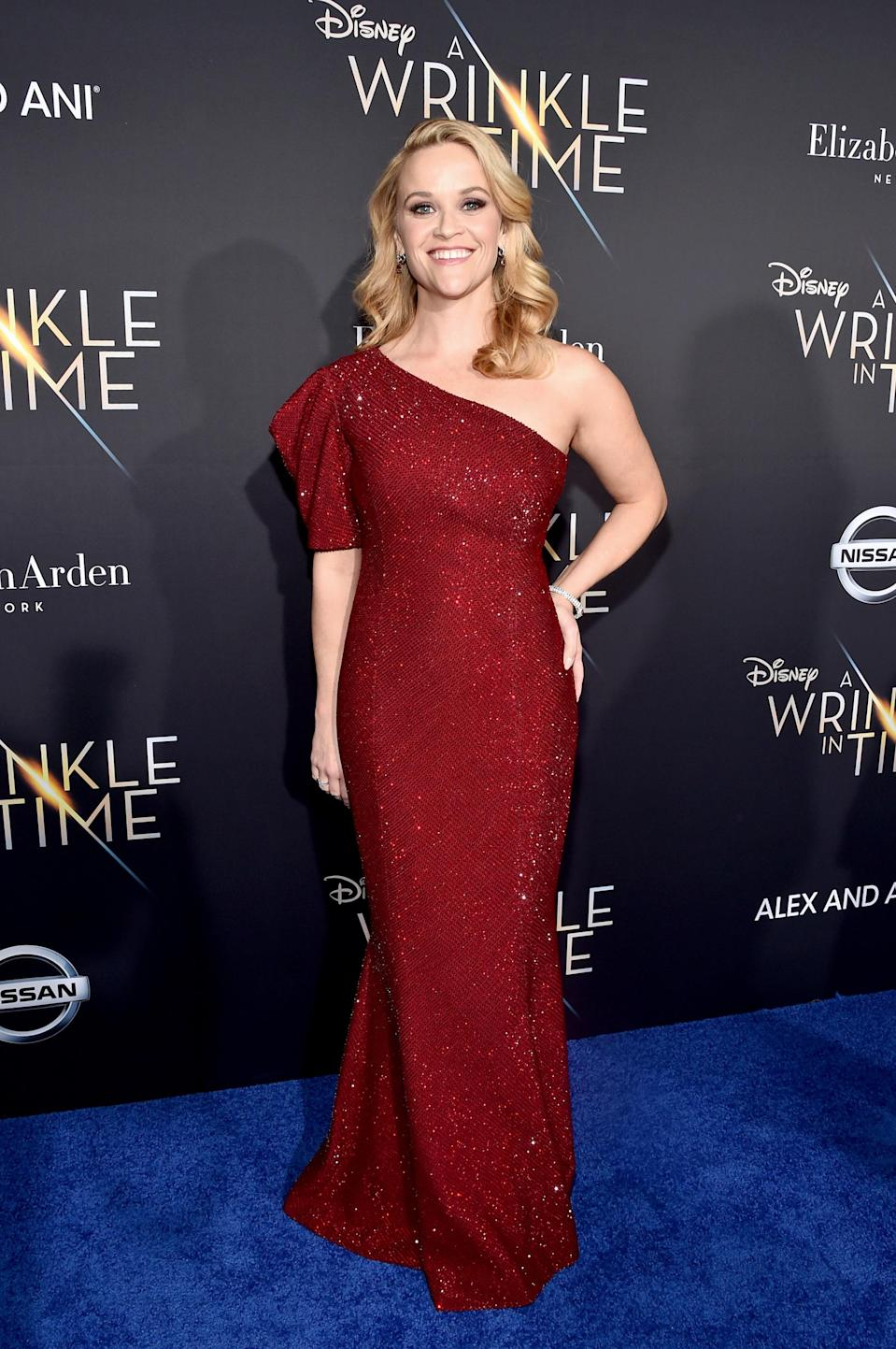 <p>The actress wore a glitzy Michael Kors dress for the A-list evening. <em>[Photo: Getty]</em> </p>
