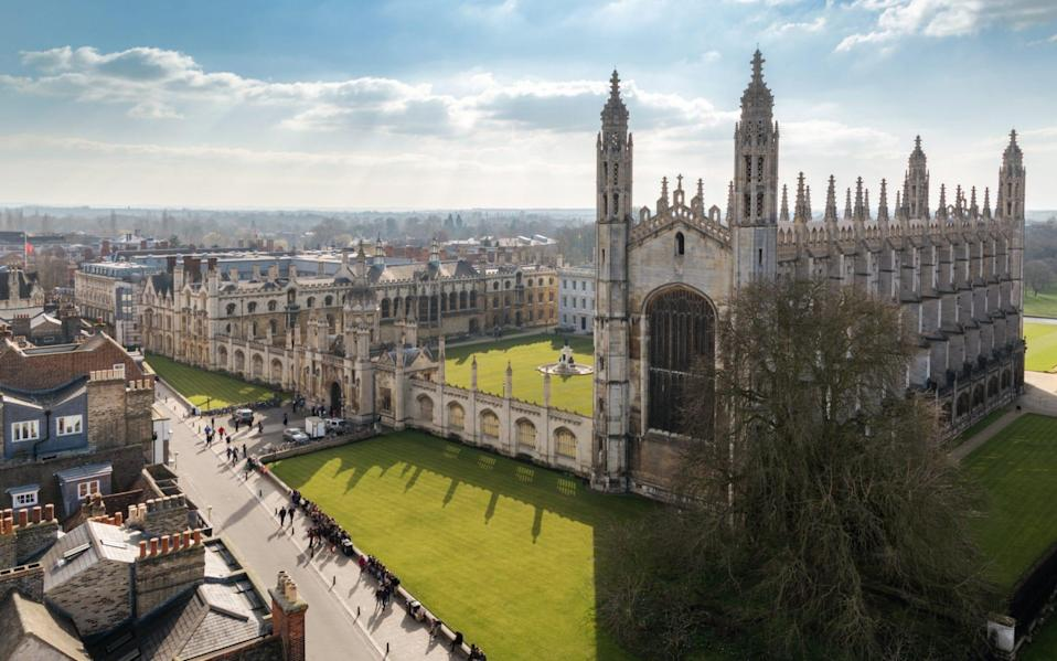 Cambridge University Top View - iStockphoto
