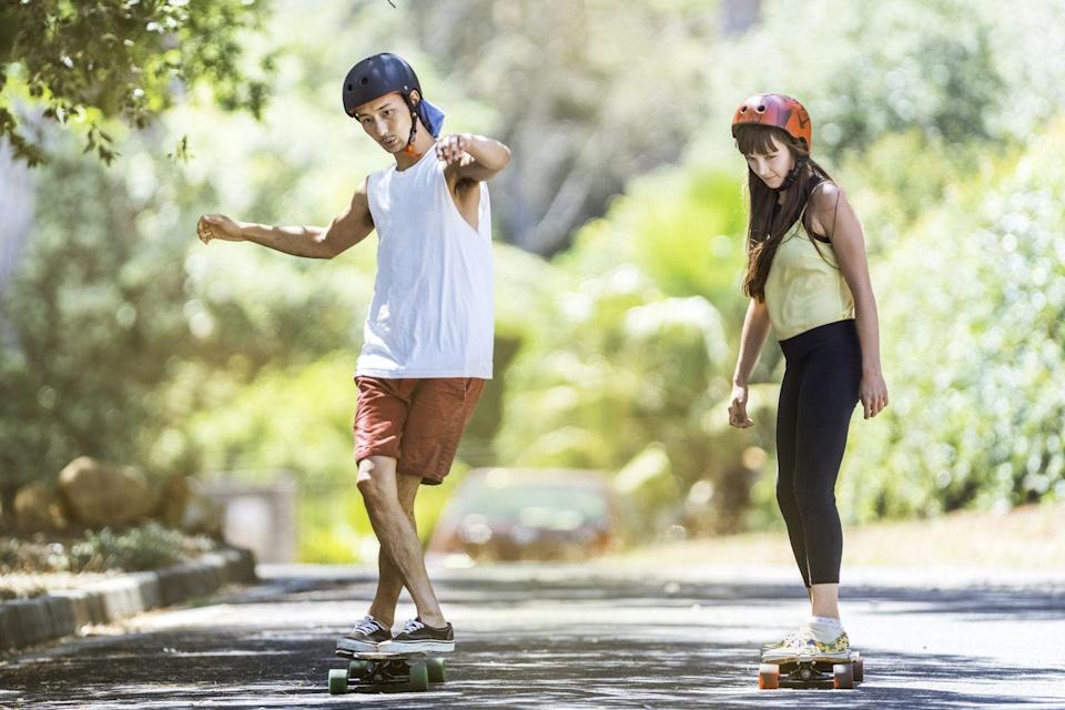 <p>If beaches aren't in your backyard, hop on a skateboard. (Just wear helmets again.)</p>