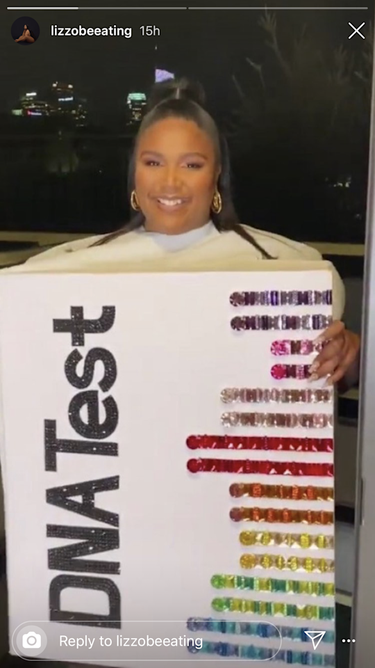 """If you think this costume is perfect now, just wait until you see the reveal of another layer on <a href=""""https://www.instagram.com/p/B4T3c8ZhVQb/"""" target=""""_blank"""">Lizzo's Instagram</a>."""