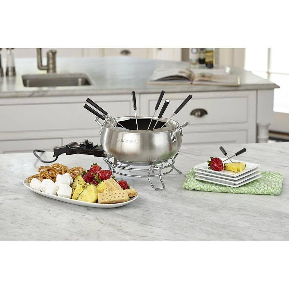 <p>This <span>Cuisinart CFO-3SS 3-Quart Electric Fondue Pot</span> ($38, originally $50) would be so fun to use with friends.</p>