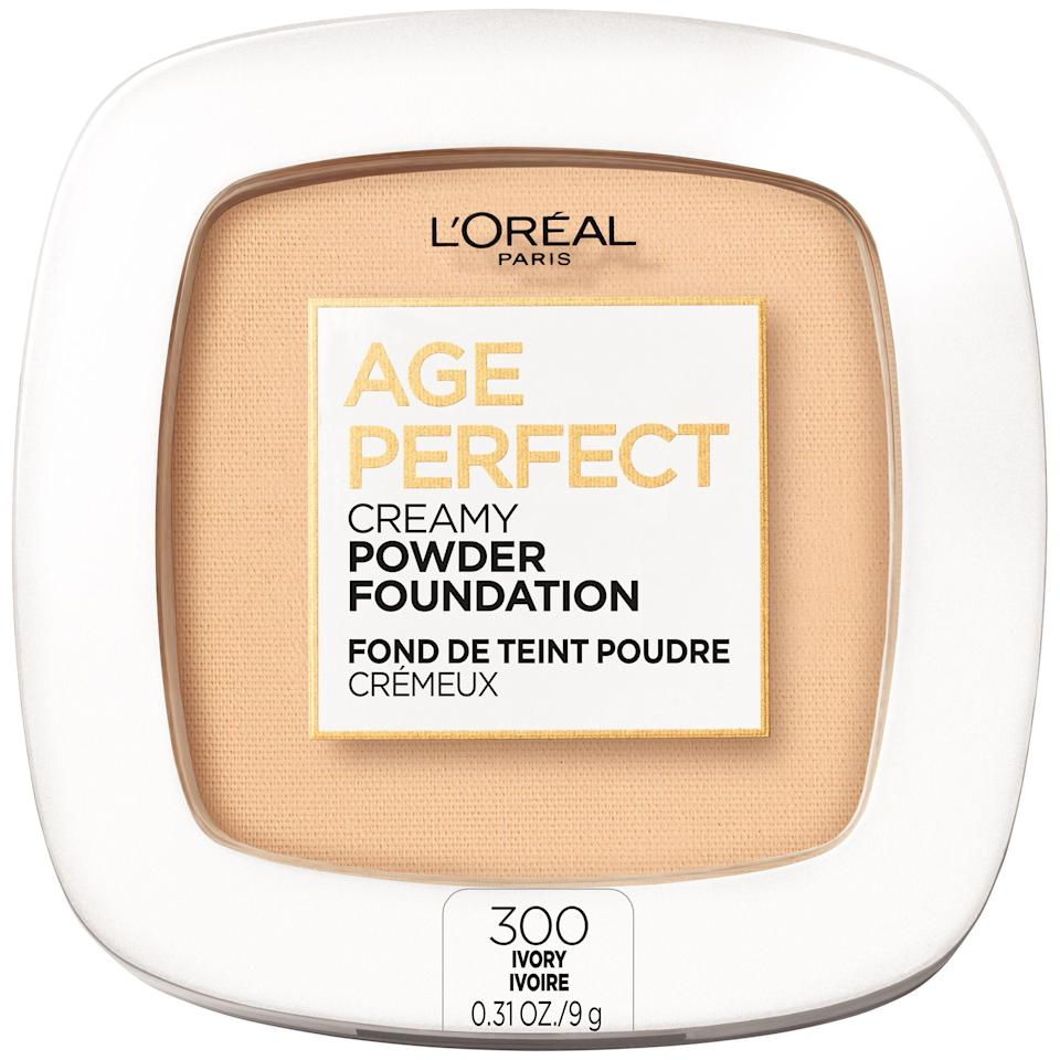 "<p><strong>L'Oreal Paris</strong></p><p>walmart.com</p><p><strong>$11.97</strong></p><p><a href=""https://go.redirectingat.com?id=74968X1596630&url=https%3A%2F%2Fwww.walmart.com%2Fip%2F157880124&sref=https%3A%2F%2Fwww.goodhousekeeping.com%2Fbeauty-products%2Fg35745893%2Fbest-face-powders%2F"" rel=""nofollow noopener"" target=""_blank"" data-ylk=""slk:Shop Now"" class=""link rapid-noclick-resp"">Shop Now</a></p><p>Worried about powder drying out your skin? No need to — this creamy powder formula actually has skincare ingredients in it like <a href=""https://www.goodhousekeeping.com/beauty/anti-aging/a32215252/what-are-ceramides/"" rel=""nofollow noopener"" target=""_blank"" data-ylk=""slk:ceramides"" class=""link rapid-noclick-resp"">ceramides</a> that help skin stay hydrated. In Lab tests, <strong>85% of testers said this powder made their skin look smooth, while 75% of testers said that it helps give them a blurring effect</strong>. It was also a favorite for smoothing the appearance of fine lines and wrinkles, minimizing pores, and camouflaging imperfections. </p>"