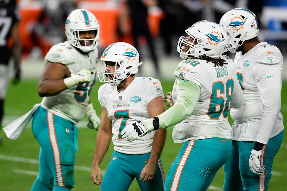 Florida residents could soon be able to bet on their home-state teams like the Miami Dolphins. (Photo by Harry How/Getty Images)
