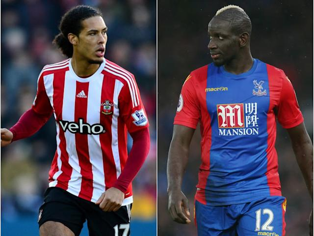 Southampton may look to replace Van Dijk (l) with Sakho: Getty