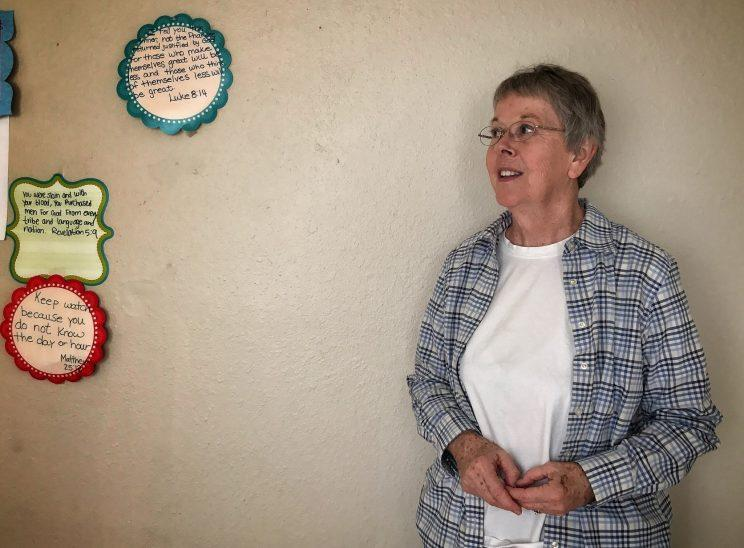 Evelyn Lyles, a longtime volunteer with Amarillo's refugee community, poses inside a community center she established at the Astoria Park Apartments. (Photo: Holly Bailey/Yahoo News)