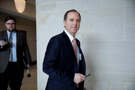 FILE PHOTO: Rep. Adam Schiff (D-CA) is seen ahead of the release of the House Intelligence Committee's report on Russian interference in the 2016 election on Capitol Hill in Washington, U.S., March 22, 2018. REUTERS/Aaron P. Bernstein/File Photo