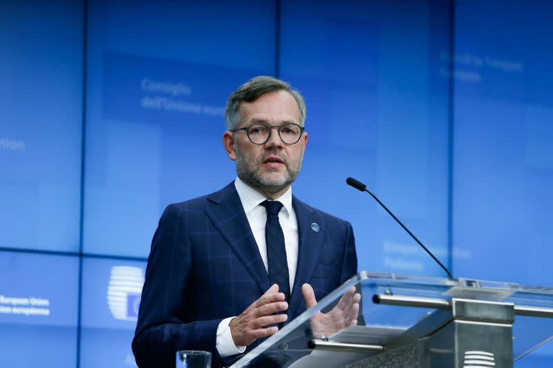 News conference after the General Affairs Council at the European Council Headquarters in Brussels