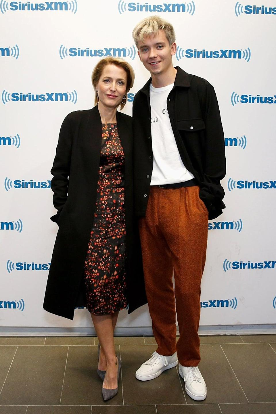 Asa with Gillian Anderson (Getty Images)