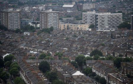 Rows of houses are seen in North Kensington, London, Britain June 29, 2017. REUTERS/Hannah McKay