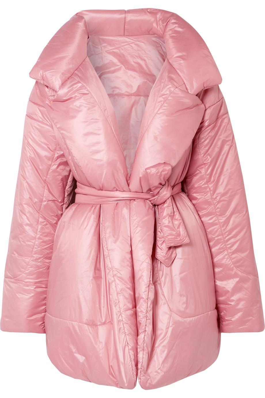 """<br><br><strong>Norma Kamali</strong> Belted Quilted Shell Coat, $, available at <a href=""""https://www.net-a-porter.com/gb/en/product/1082623/Norma_Kamali/belted-quilted-shell-coat"""" rel=""""nofollow noopener"""" target=""""_blank"""" data-ylk=""""slk:Net-A-Porter"""" class=""""link rapid-noclick-resp"""">Net-A-Porter</a>"""
