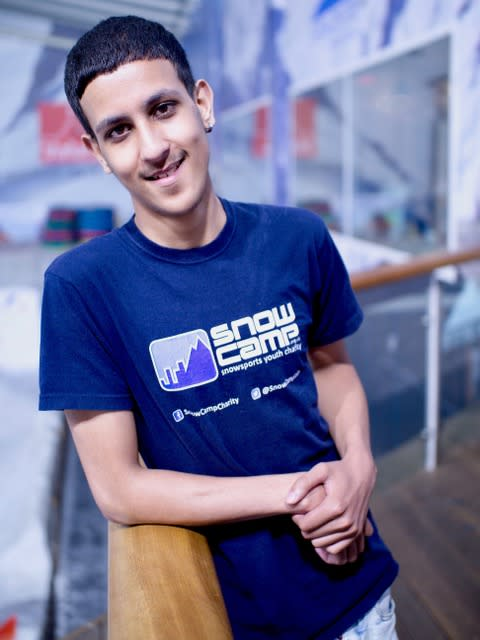 Hamza, 19, joined the programme in late 2013 and has found a new career path as an instructor. (Snow-Camp)