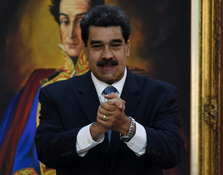 Venezuelan President Nicolas Maduro, pictured in June 2019, confirmed talks between senior officials from his country and the United States (AFP Photo/Yuri CORTEZ)
