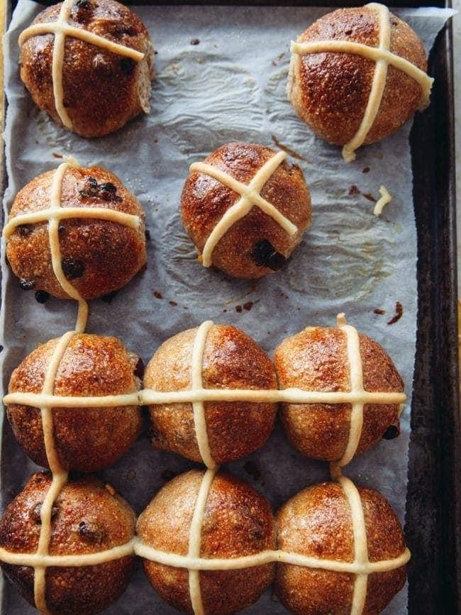 """<h2><a href=""""https://topwithcinnamon.com/sourdough-hot-cross-buns/"""" rel=""""nofollow noopener"""" target=""""_blank"""" data-ylk=""""slk:Sourdough Hot Cross Buns"""" class=""""link rapid-noclick-resp"""">Sourdough Hot Cross Buns</a></h2> <br>What's more British than hot cross buns? Eat with some jam on the side and you'll be in lockdown paradise.<br><br>Recipe here by <a href=""""https://topwithcinnamon.com/sourdough-hot-cross-buns/"""" rel=""""nofollow noopener"""" target=""""_blank"""" data-ylk=""""slk:Top With Cinnamon"""" class=""""link rapid-noclick-resp"""">Top With Cinnamon</a><br><br><br>"""