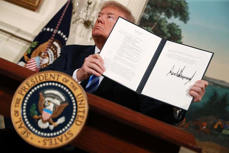 Trump Iran deal tehran nuclear deal sanctions