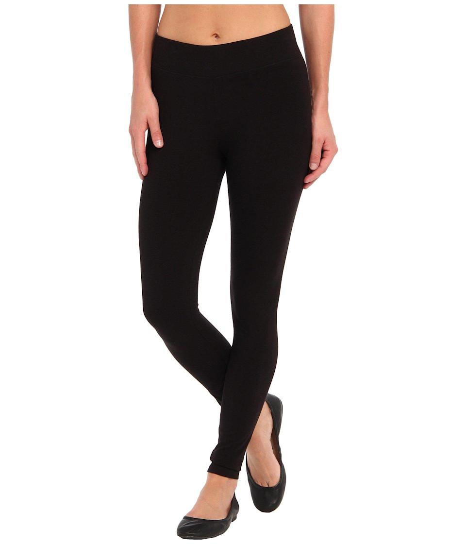 """<strong><h3>Hue: The Basic Legging</h3></strong><br>Comfort is key. And that's exactly how these reviewers on Zappos feel about this classic pair from Hue.<br><br><strong>The hype:</strong> 4.9 out of 5 stars and 177 reviews on Zappos<br><br><strong>What they're saying:</strong> """"Pretty much the gold standard in """"basic"""" leggings. These are TOTALLY opaque (nobody's gonna see your underwear or anything else, even if you're bending down etc.), extremely comfortable (you might as well be wearing pajama pants, they're truly that comfy), and the wide waistband is a godsend to all of us, let's be honest!...I feel like the waistband needs to be talked about, because I've worn other brands with wide waistbands that don't work well for me (the waistband rolls down, doesn't stay where it's supposed to, is placed/sits at an odd length, etc.). None of those problems with these! You put that waistband right where you want it and it's gonna stay there and hold you in and it will not ride up or down!...And you can wear these with ANYTHING! Casual with t-shirts, I wear them at work with blouses and blazers, tunics, underneath dresses or skirts, at the gym, as pajamas (I do, they're so comfy!)..."""" - Anonymous, Zappos Review<br><br><strong>HUE</strong> Ultra Leggings With Wide Waistband, $, available at <a href=""""https://go.skimresources.com/?id=30283X879131&url=https%3A%2F%2Fwww.zappos.com%2Fp%2Fhue-ultra-leggings-w-wide-waistband-black%2Fproduct%2F8426214%2Fcolor%2F3"""" rel=""""nofollow noopener"""" target=""""_blank"""" data-ylk=""""slk:Zappos"""" class=""""link rapid-noclick-resp"""">Zappos</a>"""