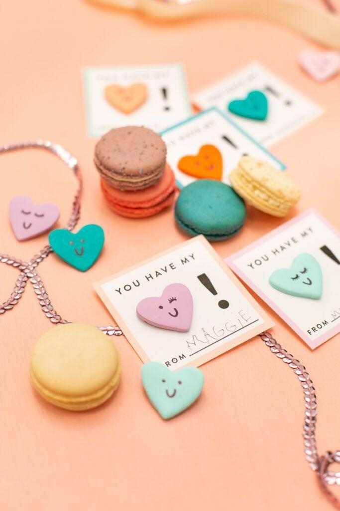 "<p>Dress your Valentine up in your love with homemade clay heart pins! Attach the pins to cute little cards for easy delivery. </p><p><strong>See more at <a href=""https://lovelyindeed.com/diy-clay-heart-pin-valentines-and-a-free-printable/"" rel=""nofollow noopener"" target=""_blank"" data-ylk=""slk:Lovely Indeed"" class=""link rapid-noclick-resp"">Lovely Indeed</a>. </strong></p><p><a class=""link rapid-noclick-resp"" href=""https://go.redirectingat.com?id=74968X1596630&url=https%3A%2F%2Fwww.walmart.com%2Fsearch%2F%3Fquery%3Dmodeling%2Bclay&sref=https%3A%2F%2Fwww.thepioneerwoman.com%2Fhome-lifestyle%2Fcrafts-diy%2Fg35084525%2Fdiy-valentines-day-cards%2F"" rel=""nofollow noopener"" target=""_blank"" data-ylk=""slk:SHOP CLAY"">SHOP CLAY</a></p>"