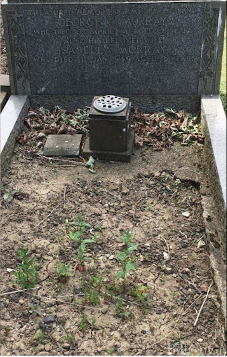 Reserve Constable George Murray's grave at Preston Cemetery in North Shields. (NORTHUMBRIA POLICE)