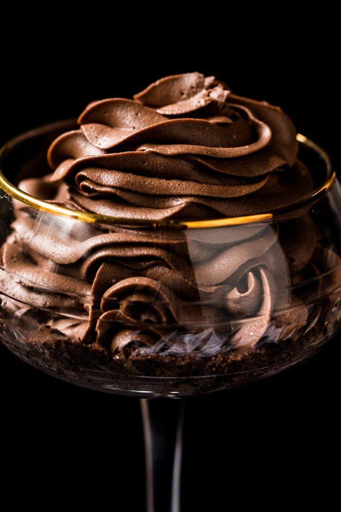 """<p>This rich chocolate cheesecake is low in carbs and sugar but surprisingly high in protein, so you can feel good about every spoonful.</p><p><a class=""""link rapid-noclick-resp"""" href=""""https://www.gnom-gnom.com/no-bake-gluten-free-keto-chocolate-cheesecake/"""" rel=""""nofollow noopener"""" target=""""_blank"""" data-ylk=""""slk:GET THE RECIPE"""">GET THE RECIPE</a></p><p><em>Per serving: 364 calories, 37 g fat (19 g saturated), 6.5 g carbs, 265 mg sodium, 3.5 g fiber, 2 g sugar, 5 g protein</em></p>"""