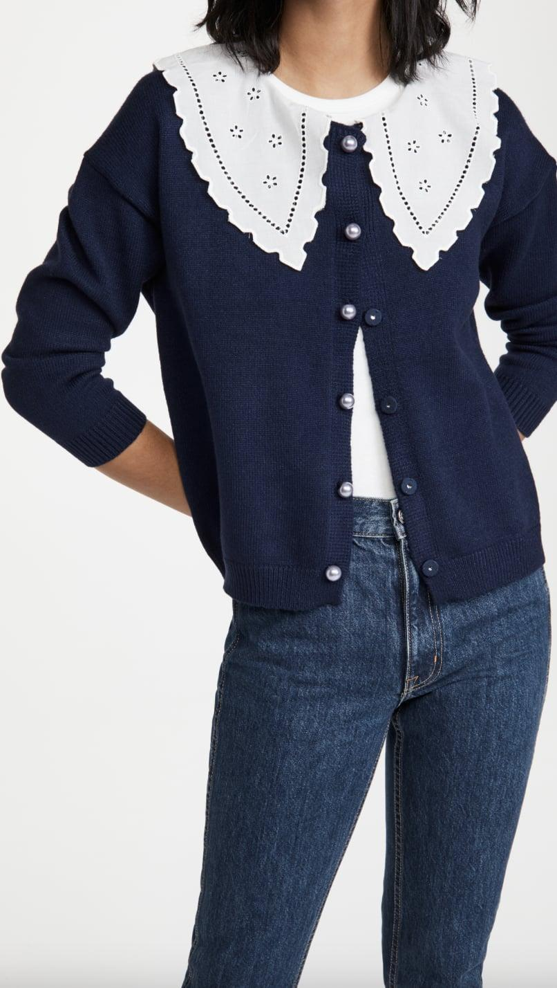 <p>This <span>Olivia Rubin Courtney Cardigan </span> ($307) is so eye-catching and pretty to look at.</p>