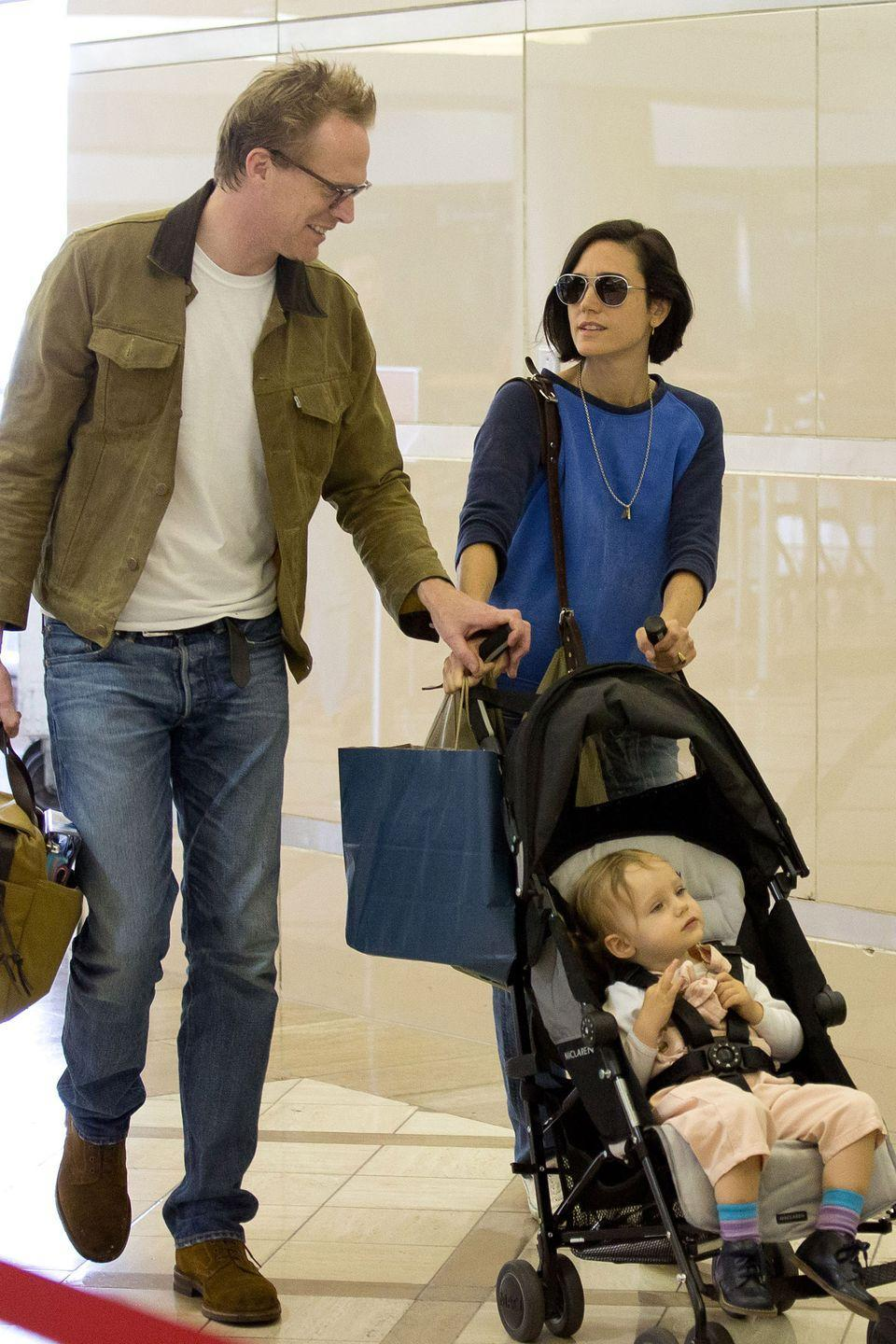 "<p>The actress was 40 years old when she and husband, Paul Bettany, welcomed their third child, daughter Agnes Lark. Connelly told <em><a href=""https://www.allure.com/gallery/jennifer-connelly-style"" rel=""nofollow noopener"" target=""_blank"" data-ylk=""slk:Allure"" class=""link rapid-noclick-resp"">Allure</a> </em>she wanted to be done with pregnancies after Agnes, ""I knew that we were going to be done after number three,"" she told <em>Allure</em> in February 2014. ""That's enough for us.""</p>"
