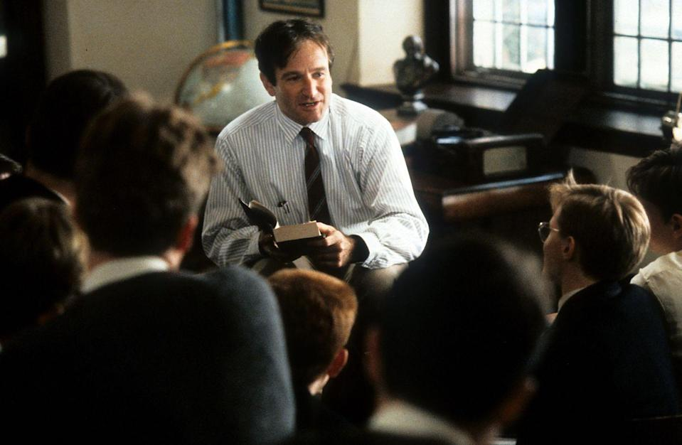 <p><strong><em>Dead Poets Society </em></strong></p><p>Set at the elite prep school Welton Academy, Robin Williams teaches the likes of Ethan Hawke, Robert Sean Leonard, and Josh Charles to seize the day. <strong><br></strong></p>