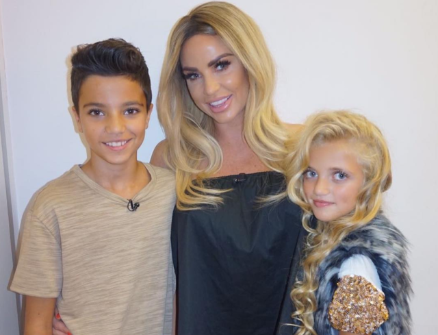 British reality-TV star Katie Price has been criticized for letting her 10-year-old daughter wear hair extensions and mascara. (Photo: Instagram/officialkatieprice)