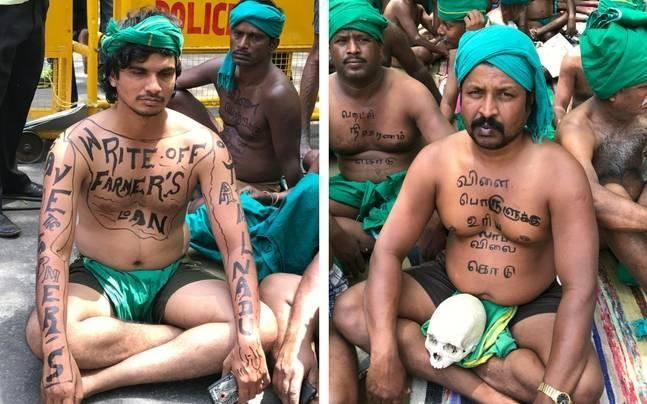 Delhi: Protesting Tamil Nadu farmers up the ante, cut mangalsutras