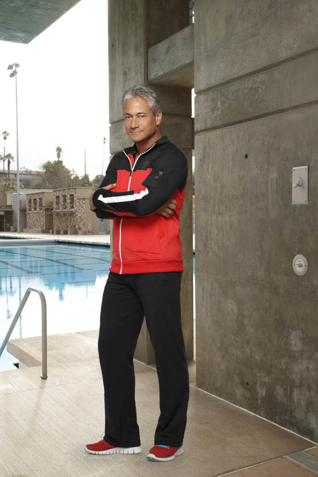 "Greg Louganis trains the celbrities on ABC's ""Splash."""