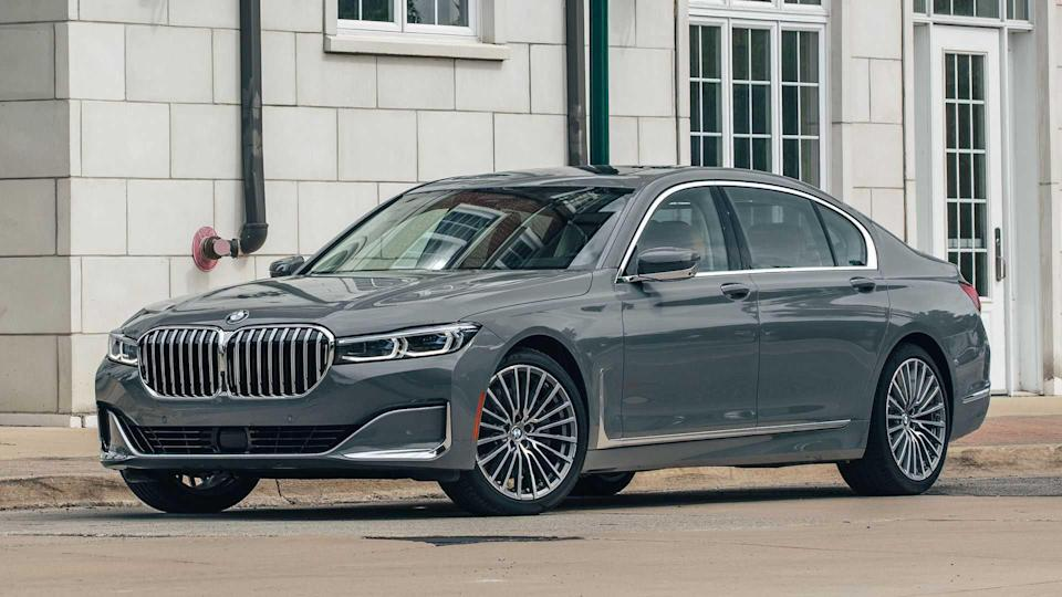 """<p><strong>Score: 7.0 / 10</strong></p> <p>The <a href=""""https://www.motor1.com/reviews/380866/2020-bmw-750i-review/"""" rel=""""nofollow noopener"""" target=""""_blank"""" data-ylk=""""slk:BMW 7 Series"""" class=""""link rapid-noclick-resp"""">BMW 7 Series</a> got big, ugly kidney grilles for 2020, but that only hurts its overall score marginally. The large luxury sedan still gets 7.0 out of 10 stars on our scale thanks to an impressive selection of standard technology – like iDrive 7 – and one of the most comfortable cabins anywhere. The front seats alone offer 20-way adjustability, three-stage heating, and eight different massage settings.</p> <br><a href=""""https://www.motor1.com/reviews/380866/2020-bmw-750i-review/"""" rel=""""nofollow noopener"""" target=""""_blank"""" data-ylk=""""slk:2020 BMW 750i Review: Rolling Rhinoplasty"""" class=""""link rapid-noclick-resp"""">2020 BMW 750i Review: Rolling Rhinoplasty</a><br>"""