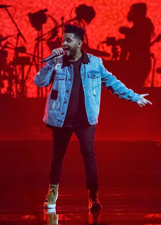 "<p><em>Starboy</em> debuted at No. 1, and the Weeknd performed its single ""I Feel It Coming"" with Daft Punk at this year's ceremony, yet he received only one nomination — for Best Urban Contemporary Album. (Photo: Scott Legato/Getty Images) </p>"