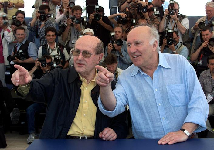 Piccoli, right, with the director Manoel de Oliveira - ERIC GAILLARD
