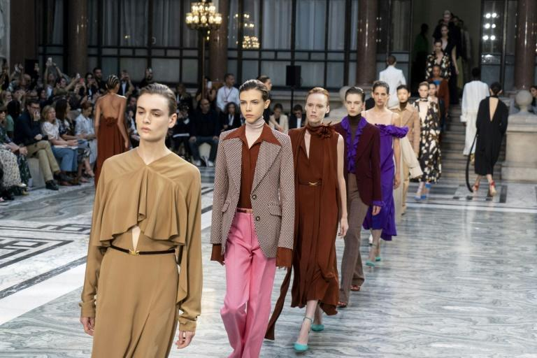 London Fashion Week 2019. Models walk the runway at the Victoria Beckham show