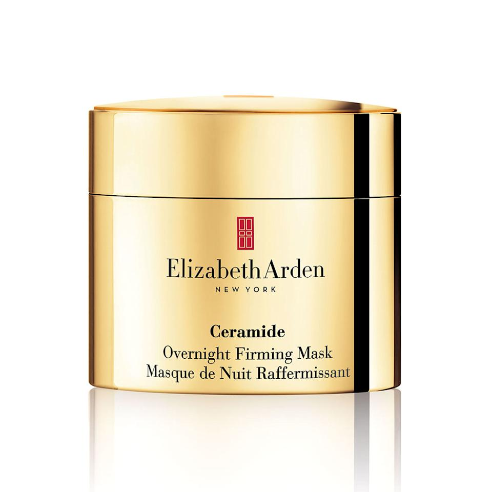 "<p>This overnight mask promises to firm, tighten, and lift. To me it felt more like a really nice night cream, not a mask. It smells amazing, and the texture was like buttercream frosting. My skin looked great while I was using it, but there wasn't any noticeable firming. <br /><br /><a rel=""nofollow"" href=""http://www.elizabetharden.com/ceramide-overnight-firming-mask-1001A0100067.html?cgid=restore-youth"">Buy it</a> </p>"