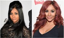 """<p>Remember when this self-described """"meatball"""" single-handedly made the """"pouf"""" famous? In her <em>Jersey Shore </em>days, Snooki was known for her down-to-there black hair, spider eyelashes, and, <em>obviously</em>, a year-round tan. Around 2013, though, the reality star put down the self-tanner, lightened up her hair to her now-signature red, and chilled out on the mascara. And you know what? It's really working for her.</p>"""