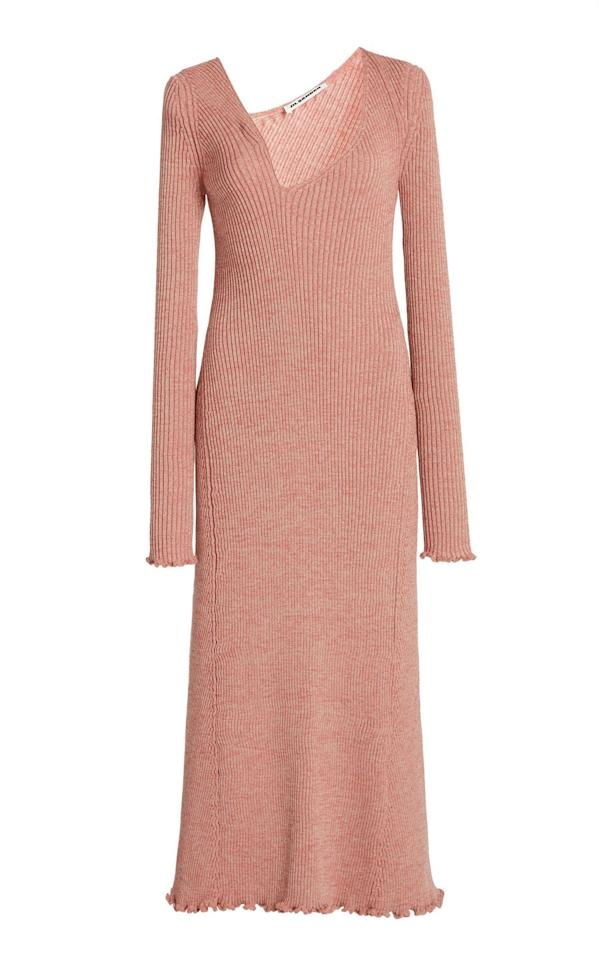 """<p><a class=""""body-btn-link"""" href=""""https://go.redirectingat.com?id=127X1599956&url=https%3A%2F%2Fwww.modaoperandi.com%2Fjil-sander-pf20%2Fasymmetric-neckline-long-sleeved-knit-dress&sref=https%3A%2F%2Fwww.harpersbazaar.com%2Fuk%2Ffashion%2Fwhat-to-wear%2Fg33923535%2Fstylish-maternity-fashion%2F"""" target=""""_blank"""">SHOP NOW</a></p><p>A knit dress will become your best friend when pregnant,   stretching as you grow and providing an easy and smart transitional look for   when you need to look put-together.<br></p><p>Knit dress, £1,692, Jil Sander at <a href=""""https://go.redirectingat.com?id=127X1599956&url=https%3A%2F%2Fwww.modaoperandi.com%2Fjil-sander-pf20%2Fasymmetric-neckline-long-sleeved-knit-dress&sref=https%3A%2F%2Fwww.harpersbazaar.com%2Fuk%2Ffashion%2Fwhat-to-wear%2Fg33923535%2Fstylish-maternity-fashion%2F"""" target=""""_blank"""">Moda Operandi</a></p>"""