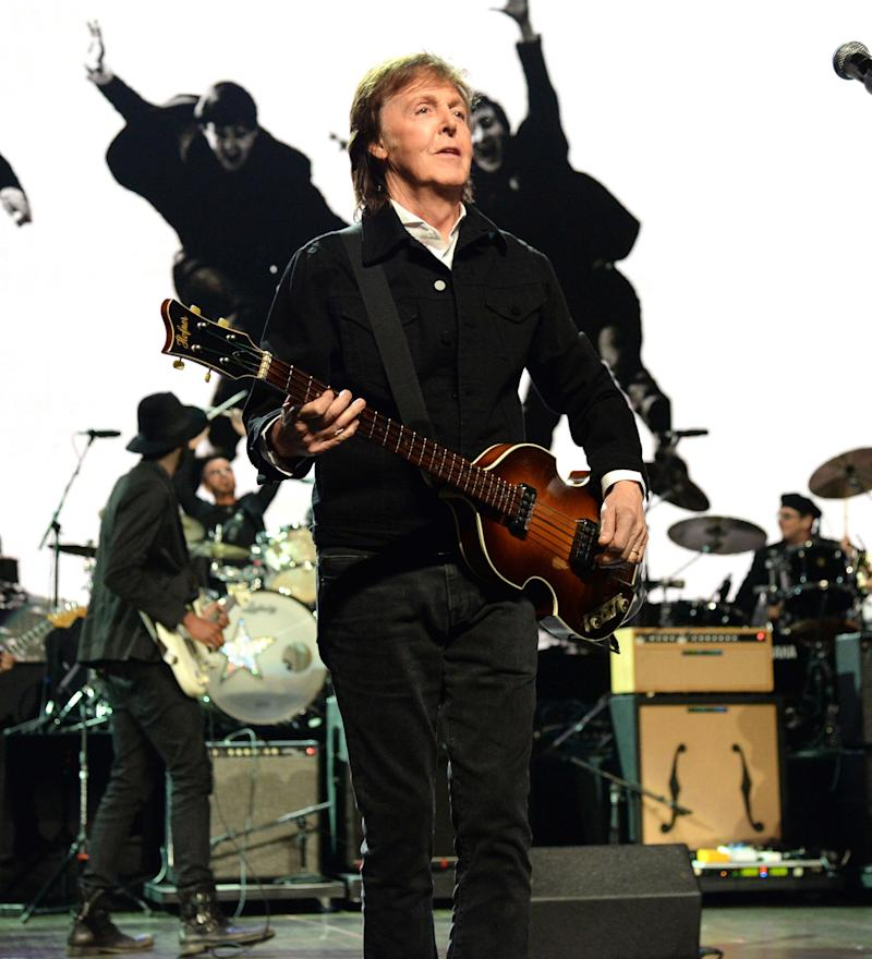 Paul McCartney performs onstage during the 30th Annual Rock And Roll Hall Of Fame Induction Ceremony at Public Hall on April 18, 2015 in Cleveland, Ohio.