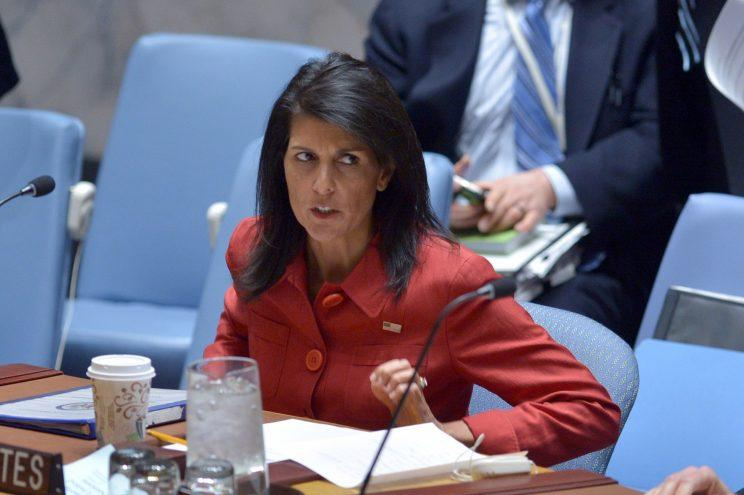 U.S. Ambassador to the U.N. Nikki Haley.